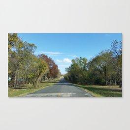 A Peaceful Drive  Canvas Print