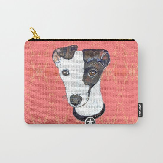 Greyhound Portrait Carry-All Pouch