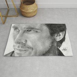 Christian Bale Traditional Portrait Print Rug