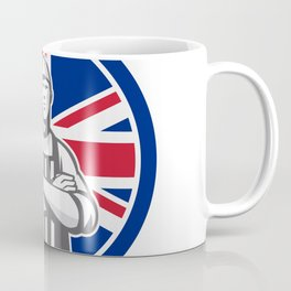 British Butcher Front Union Jack Flag Icon Coffee Mug