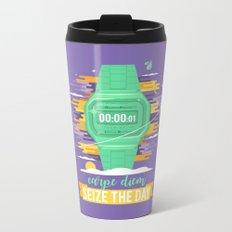 Carpe Diem - Seize the Day [green] Metal Travel Mug