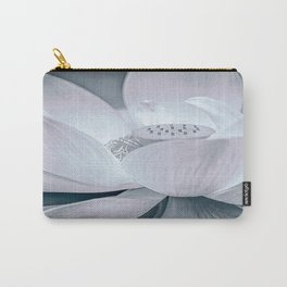 Lotus in Blue and White Carry-All Pouch