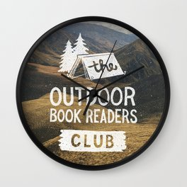 The Outdoor Book Readers Club Wall Clock