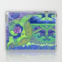 Dream of the fullmoon (mirrored version) Laptop & iPad Skin