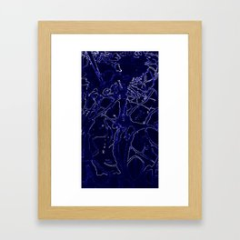 Inorganic blue 3 Framed Art Print
