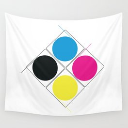 CMJN rounds Wall Tapestry
