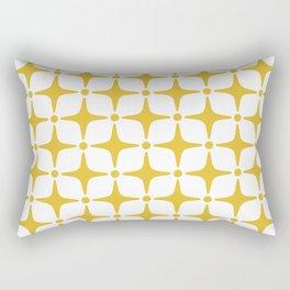 Mid Century Modern Star Pattern Yellow Rectangular Pillow