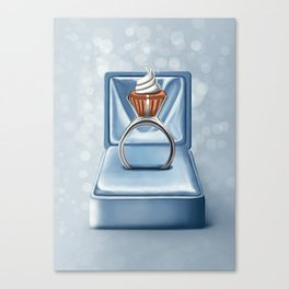 Cupcake diamond ring in the box Canvas Print