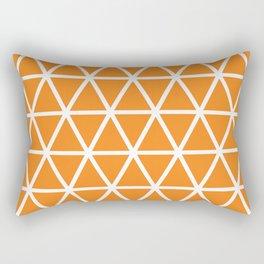 Orange Triangle Pattern 3 Rectangular Pillow