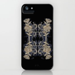 Poppies Goldish Gothic iPhone Case