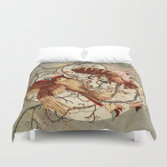 Honey & Sorrow (grey) Duvet Cover