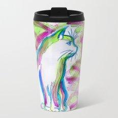 Cat of Color Metal Travel Mug