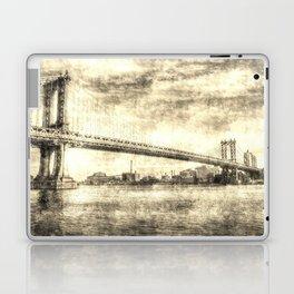 Manhattan Bridge New York Vintage Laptop & iPad Skin