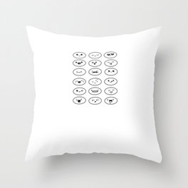 Many little smilies Throw Pillow