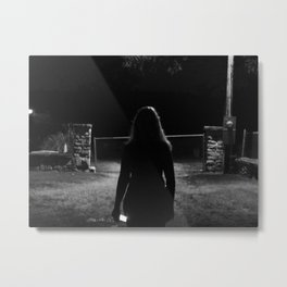cemetery girl Metal Print