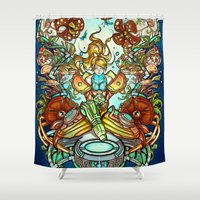spawn Shower Curtains featuring Maternal Instinct by Emilie Boisvert