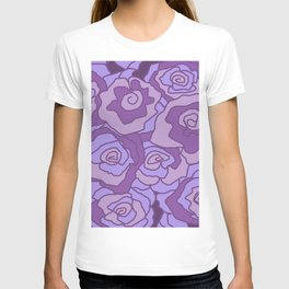 Lavender Dreams Roses - Mixed with Dark Outline T-shirt