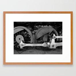 Train parts - Wheels Framed Art Print