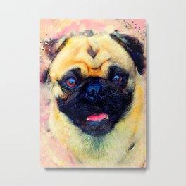 dog mops #dog #mops #animals Metal Print