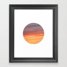 Berkshire Sunset IV circle Framed Art Print