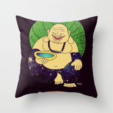 total peace buddha Throw Pillow