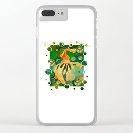 Happy Nowruz Persian New Year Goldfish In Green Sea Clear iPhone Case