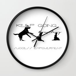 keepgoing empower Wall Clock