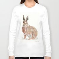 hare Long Sleeve T-shirts featuring HARE  by Joelle Poulos