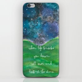 Look At The Stars iPhone Skin