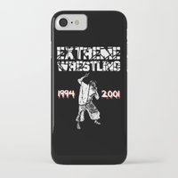 wrestling iPhone & iPod Cases featuring Extreme Wrestling by Darth Paul