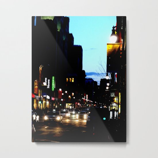 DownTowN - Night's coming Metal Print