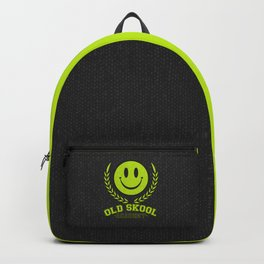 Old Skool Academy Rave Quote Backpack
