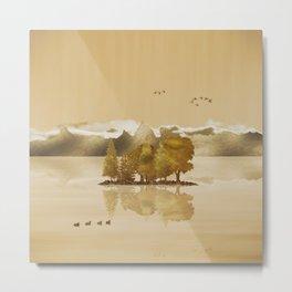 Golden Landscape Metal Print