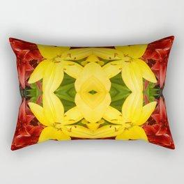 """A Gathering of Lilies"" Remix - 3 (3-1) [D4468~49] Rectangular Pillow"