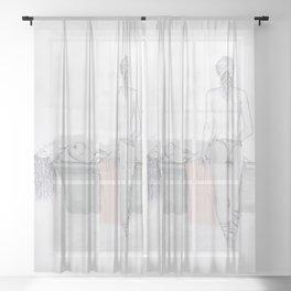 Figures Sheer Curtain