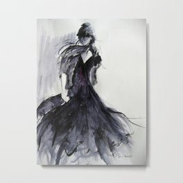 Girl Walking Metal Print