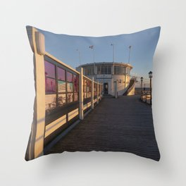Worthing Pier Sussex Throw Pillow