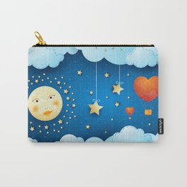 Valentine night with full moon Carry-All Pouch