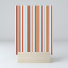 Combined Stripe Pattern - Clear Sailing Colorway Mini Art Print