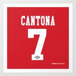 Set of Seven: Cantona 7 Art Print