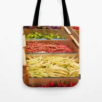 vegetables Tote Bags featuring Vegetables by Toni-Ann Langella