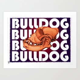 Bulldog Skull Art Print