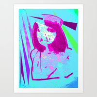 nurse Art Prints featuring Nurse by Fire Child