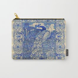 Garden Peacock Pair Carry-All Pouch