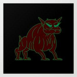 zuul - ghostbusters Art Print