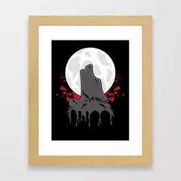 Howl at the Moon (Awoo) Framed Art Print