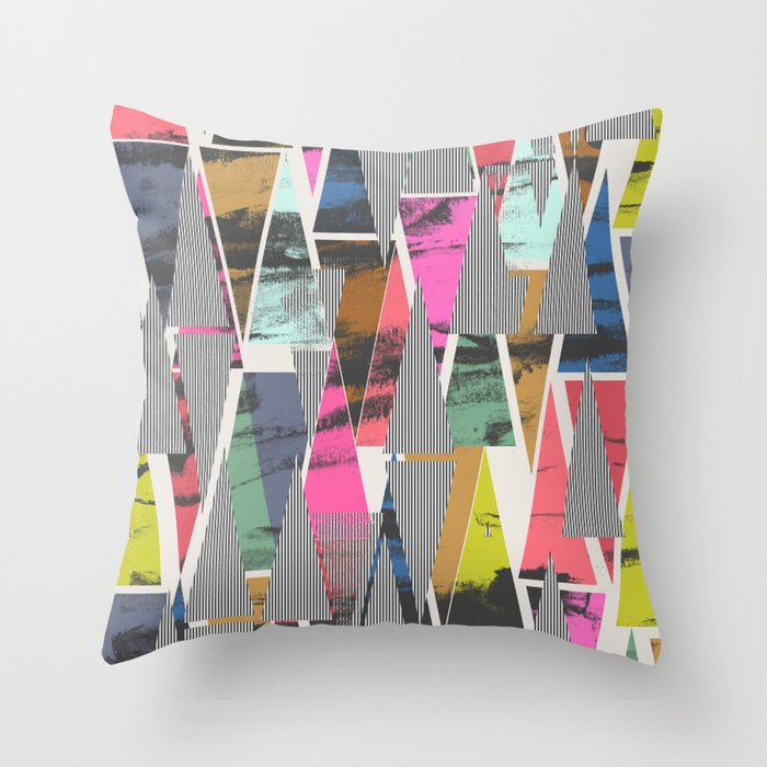 Triangles 21 Throw Pillow