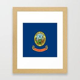 flag idaho,america,usa,west,Idahoan, gem state,Boise,countryside,nampa,pocatello. Framed Art Print