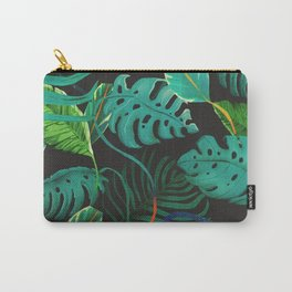 nigth tropical leaves Carry-All Pouch
