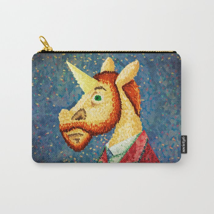 Pointillism Unicorn Carry-All Pouch
